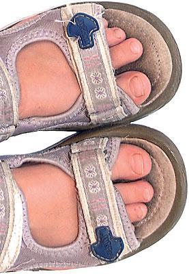 87ad4684358 Barnets sko. Skoen skal have form efter en sund og naturlig fod. Der skal  være plads i skoens forparti til, at tæerne kan ligge i lige forlængelse af  ...